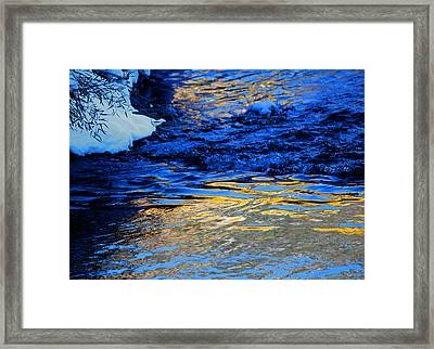 Sun Reflection Framed Print by Silke Brubaker