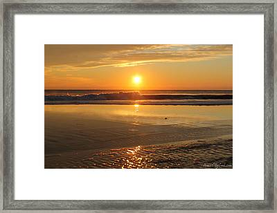 Sun Ripples Framed Print