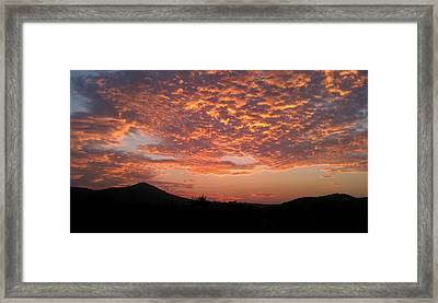Sun Rise Colors Framed Print by Kiara Reynolds