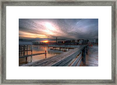 Sun Rise Over Erie Pa Framed Print by Brian Fisher