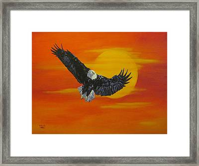 Framed Print featuring the painting Sun Riser by Wendy Shoults