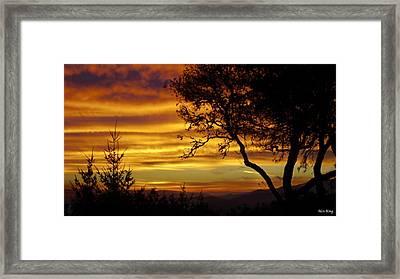 Sun Rising  Framed Print by Alex King