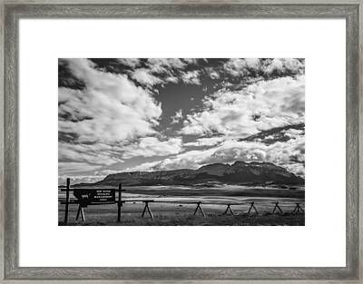 Sun River Wildlife Management Area Framed Print