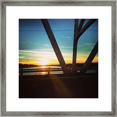 Sun Set Framed Print by Andrew Henslee
