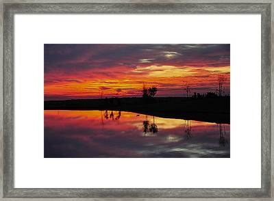Framed Print featuring the photograph Sun Set At Cowen Creek by John Johnson