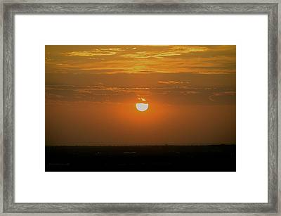 Sun Set Over Sa Framed Print by Shawn Marlow