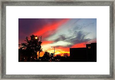 Sun Sets On Aggies Framed Print by Kenny Glover