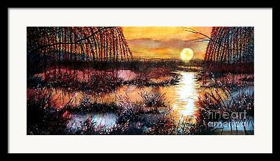 Reflection Of Sun In Clouds Paintings Framed Prints
