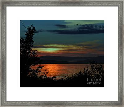 Sun Sets On Winnisquam Framed Print