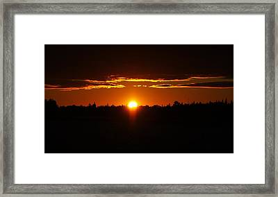 Sun Sets Over Huron Framed Print