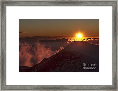 Sun Setting Framed Print by Karl Voss