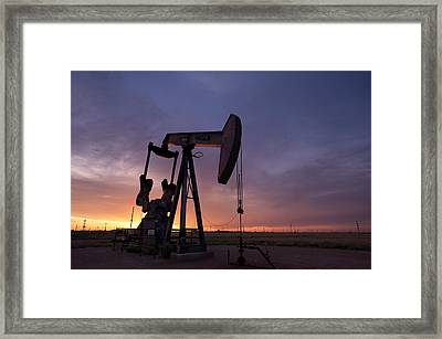 Sun Setting On Big Money Framed Print by Melany Sarafis