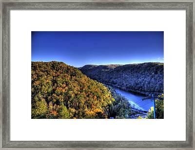 Sun Setting On Fall Hills Framed Print by Jonny D