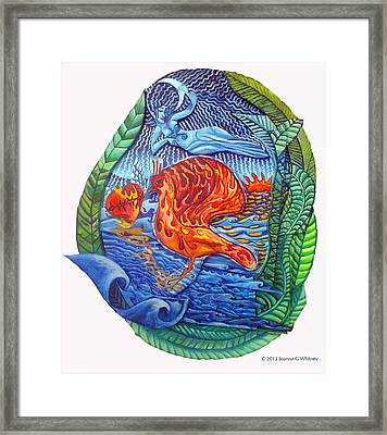 Sun Setting On The Age Of Pisces Framed Print