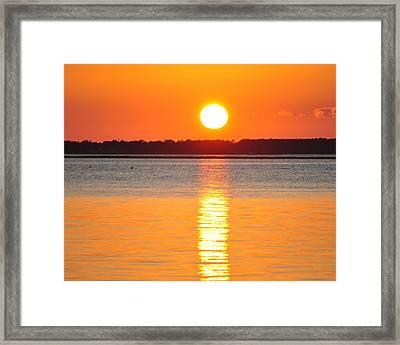 Sun Setting Over Beaufort Framed Print