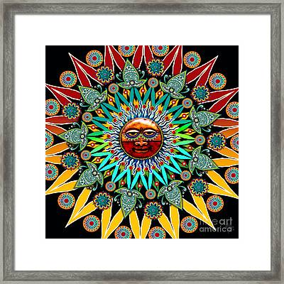 Sun Shaman Framed Print by Christopher Beikmann
