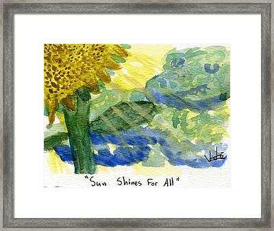 Sun Shines For All II Framed Print