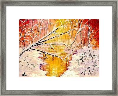 Framed Print featuring the painting Sun Shy... by Cristina Mihailescu