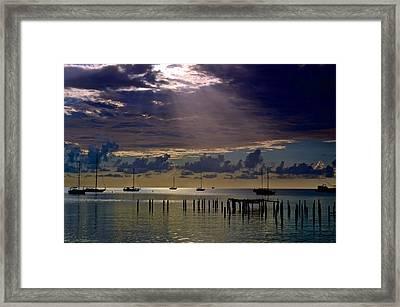 Framed Print featuring the photograph Sun Sneaking In by Ricardo J Ruiz de Porras
