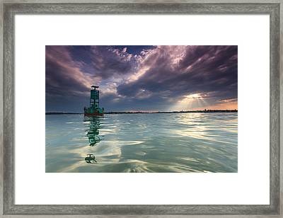 Framed Print featuring the photograph Sun Spill Over Annapolis by Jennifer Casey