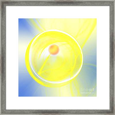 Framed Print featuring the digital art Sun Spot by Victoria Harrington