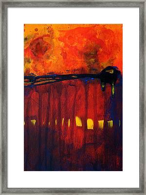 Sun Spots Framed Print by Nancy Merkle