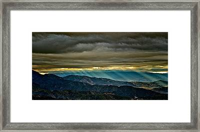Sun Storm Framed Print