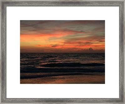Sun Streak Sky Framed Print