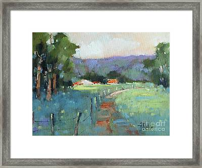 Sun Struck Farm Framed Print