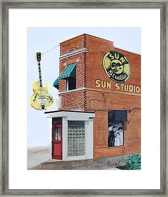 Sun Studio Framed Print