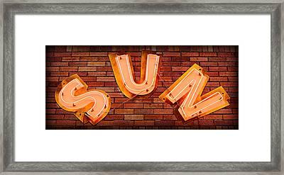 Sun Studio Neon Framed Print by Stephen Stookey