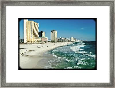 Sun Surf Sand And Condos Framed Print