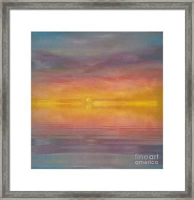Sun Tapestry Framed Print