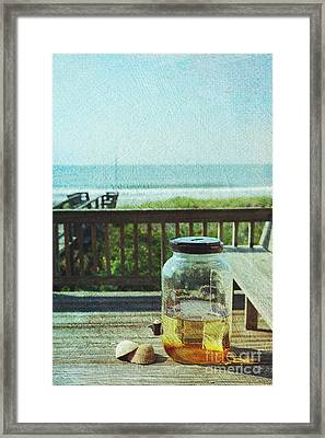 Sun Tea At The Beach Framed Print by Kay Pickens