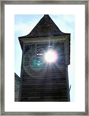 Sun Through The Steeple-by Cathy Anderson Framed Print