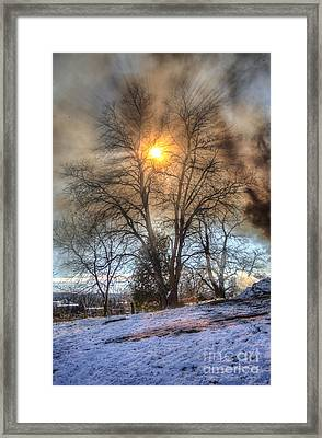 Sun Thru Smoke Framed Print by Andrew Slater