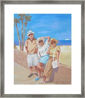 Framed Print featuring the painting Sun Tourist by Tony Caviston