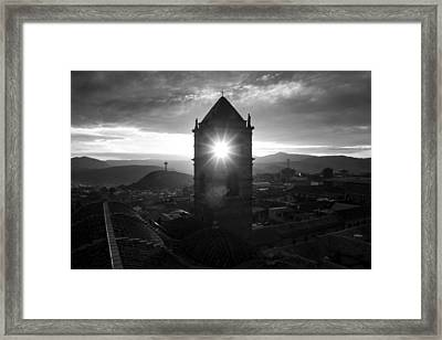 Sun Tower Of Potosi Black And White Framed Print by For Ninety One Days