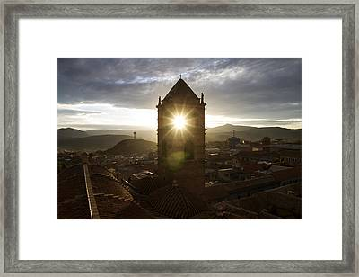 Sun Tower Of Potosi Framed Print by For Ninety One Days