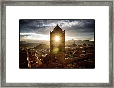 Sun Tower Of Potosi Framed Framed Print by For Ninety One Days