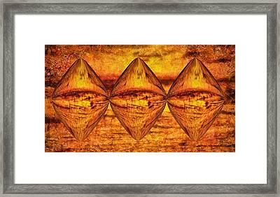 Sun Trinity Framed Print