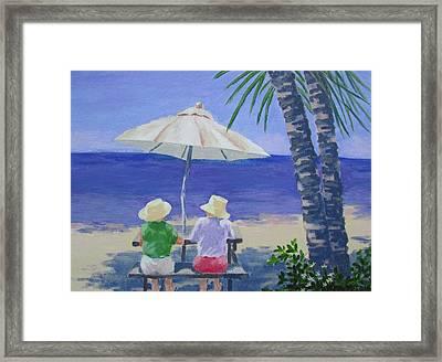 Framed Print featuring the photograph Sun Umbrella by Tony Caviston