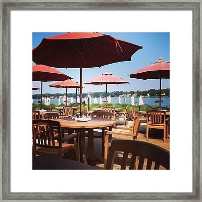 Sun Umbrellas Framed Print