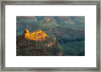 Framed Print featuring the photograph Sun-up At Grand Canyon Mike-hope by Michael Hope