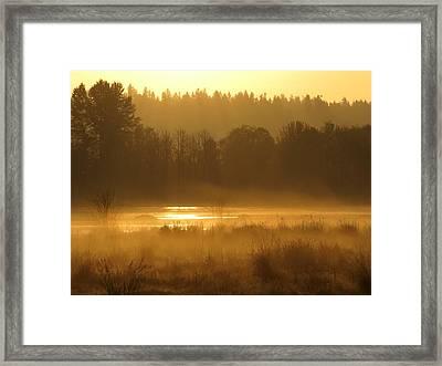 Sun Up At The Refuge Framed Print