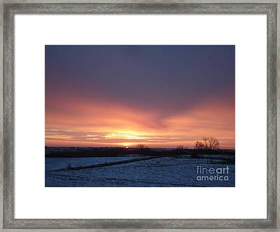 Sun Up In January Framed Print