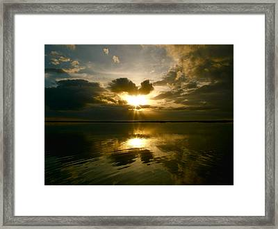 Framed Print featuring the photograph Sun Up  by Paul Foutz