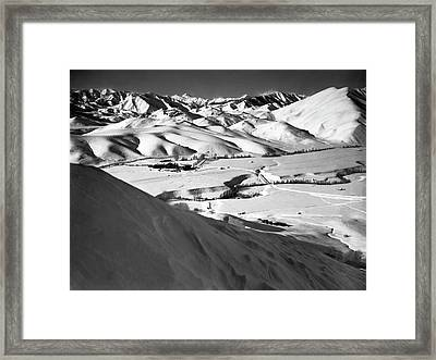 Sun Valley Opens Framed Print by Underwood Archives