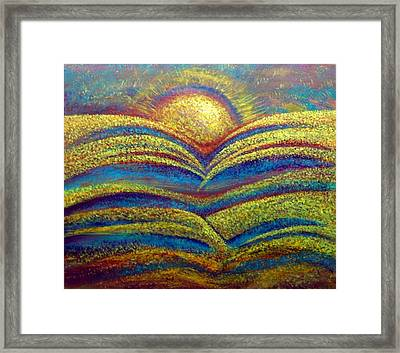 Sun Water Table Framed Print by Jeffrey Bunce