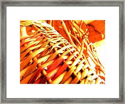 Sun Wicker Basket Framed Print by Yury Bashkin